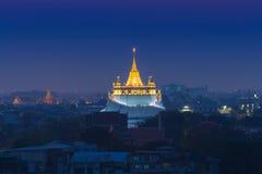Twilight  of Wat Saket (Golden Mount) Royalty Free Stock Image