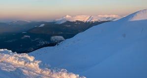 Twilight winter mountain Stock Photos