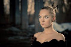 Twilight woman portrait Stock Images