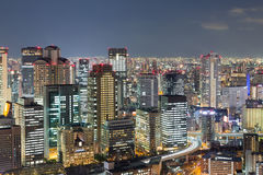 Twilights, Osaka city business downtown. Japan Stock Image