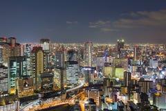 Twilights Osaka city downtown from Umeda Sky Building. Japan Stock Image