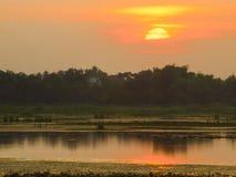 Twilinght ligero de la puesta del sol Fotografía de archivo