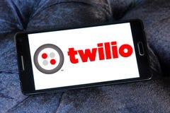 Twilio communications company. Logo of Twilio company on samsung mobile. Twilio is a cloud communications platform as a service PaaS company. Twilio allows Stock Image