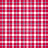 Twill plaid red white blue. Vector background Stock Photo