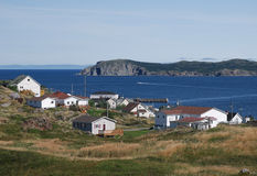 Twillingate in August. Fishing village of Twillingate in Newfoundland stock images