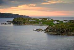 Twillingate at dusk. Twillingate village in Newfoundland Canada royalty free stock image