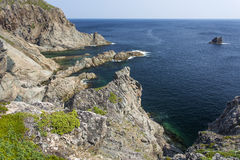 Twillingate Island view, French Beach trail Royalty Free Stock Images