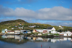 Twillingate in morning. Fishing village of Twillingate in Newfoundland stock images