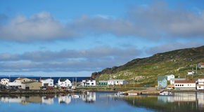 Twillingate Panorama. Fishing village of Twillingate in Newfoundland Royalty Free Stock Photo