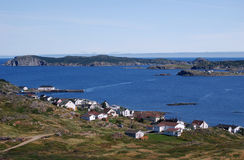 Twillingate - wide view. Fishing village of Twillingate in Newfoundland royalty free stock photo