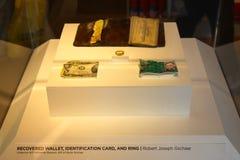 9/11Twin塔发现了对象, 9/11纪念品,纽约,美国 库存图片