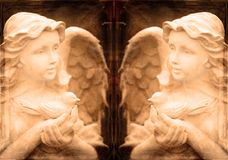 Twin Angel Statues royalty free stock image