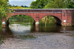 Twin Arches. Two arches of Iford bridge near Christchurch UK Stock Photo