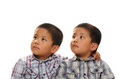 Twin asian boys Stock Photography