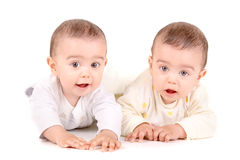 Twin babies Royalty Free Stock Image
