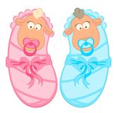 Twin Baby Boy And Girl Royalty Free Stock Photos