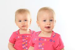 Twin baby girls Royalty Free Stock Photos