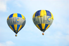 Twin Balloons. Twin Balloon during a flight-show in Laichingen (South-Germany), Jakop-Laur Airport Royalty Free Stock Image