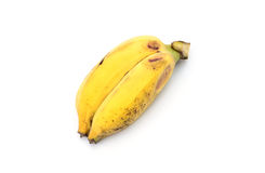 Twin bananas isolated on white background.  Stock Photo