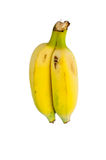 Twin bananas on white isolation. Royalty Free Stock Photo