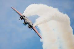 Twin Beach 18 Stunt Plane Looping Stock Image