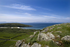 Twin Beaches, Gigha Stock Images