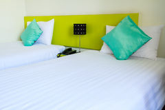 Twin bed in a hotel bedroom Royalty Free Stock Photo