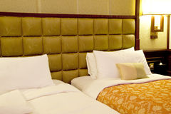 Twin bed room Royalty Free Stock Photos