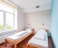 The twin bed room in hotel Royalty Free Stock Image