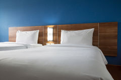 Twin bed Stock Photo