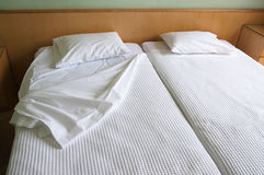 Twin Beds Royalty Free Stock Image
