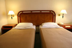 Twin Beds Royalty Free Stock Images
