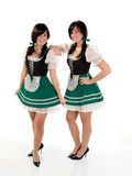Twin Beer Girls Royalty Free Stock Images