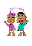 Twin behandla som ett barn royaltyfri illustrationer