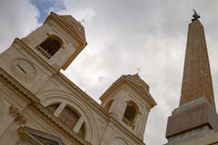 Twin Belfries of Trinita dei Monti in Rome Italy Royalty Free Stock Photos
