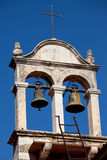 Twin Bells on a Church Roof Stock Image