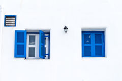 Twin blue window Royalty Free Stock Images