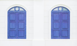 Twin blue windows Royalty Free Stock Photo