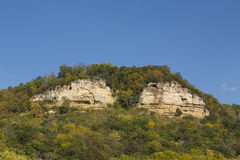 Twin Bluffs In Autumn Stock Photography