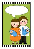 Twin boys baby announcement. A baby announcement for twin boys Royalty Free Stock Images