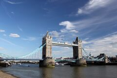 Twin Bridge Under Clear Sky Stock Photos