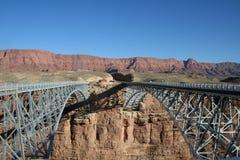 Twin Bridges. Over Colorado River near Lee's Ferry Arizona Stock Photos