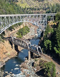 Twin Bridges at Pulga Royalty Free Stock Photo
