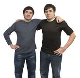 Twin brothers in casual clothing Stock Image