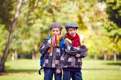 Twin brothers Stock Photos