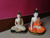 Twin budha statue calm and quite beautiful royalty free stock photos
