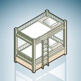 Twin Bunk Bed. (part of the Modern Furniture Isometric 3D Icons Set Stock Photos