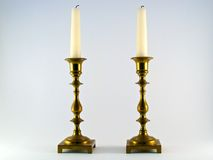 Twin Candelabras Stock Photo