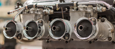 Twin Carburetor Royalty Free Stock Image