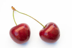 Twin Cherries Royalty Free Stock Images